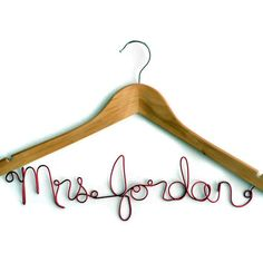 Personalized Custom Bridal Hangers are a beautiful way to display your wedding dress and make a wonderful keepsake.