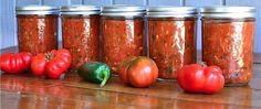 Salsa Verde, Zucchini Salsa, Dip, Canned Food Storage, Home Canning, Canning Jars, Mason Jars, Pots, Fresh Tomato Salsa