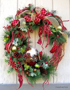 Gorgeous St. Nick CHRISTMAS WREATH! by EverythingFloral