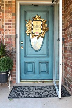 Door painted with Chalk Paint® decorative paint by Annie Sloan ...