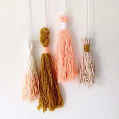 Mustard and Peach Tassel Bunch. Tassels can come hung on a copper rod or loose. Your choice. $50- free post within Aus, $10 international. Leave PayPal email and country to claim.  #cktassels