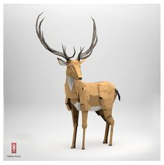 An amazing red deer stag