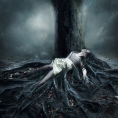 Some interesting ideas in this image with the roots of the tree and the subject.