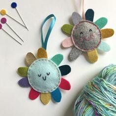 Hand Embroidered Felt Flower Lavender Bag- set of 2 Felt Flowers, Paper Flowers, Hand Embroidery, Embroidery Designs, Embroidered Gifts, Lavender Bags, Yarn Stash, Rainbow Shop, Hobbies And Crafts