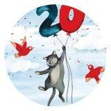 20th Anniversary, Coaster, Illustrators, Animals, Animales, 20th Birthday, Animaux, Drink Coasters, 20 Year Anniversary
