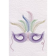 Stitching Cards Mardi Gras Mask