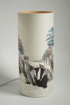 A Northern Light Badger Table Lamp