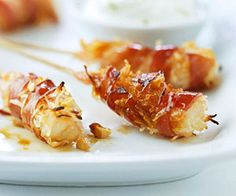 Calypso Shrimp Skewers: The contrast of sweet and salty flavors makes this Caribbean-inspired appetizer a winner. Follow the make ahead tip for a jump start on this grilled treat.