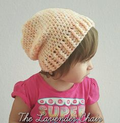 Simply Slouch Beanie (Child/Toddler Sizes) - Free Crochet Pattern - The Lavender Chair