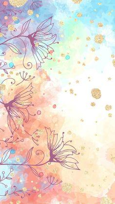 Flower Background Wallpaper, Cute Wallpaper Backgrounds, Pretty Wallpapers, Colorful Wallpaper, Watercolor Background, Simple Backgrounds, Wallpaper Quotes, Iphone Backgrounds, Trendy Wallpaper