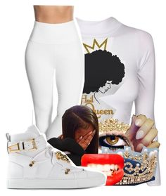 """""""Untitled #2102"""" by kayla77johnson ❤ liked on Polyvore featuring Swarovski, Lyssé Leggings and Versace"""