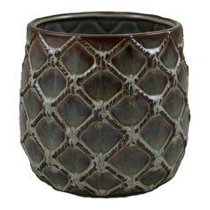 Osłonka doniczka wewnętrzna 19 cm brązowa