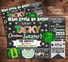 Tacky Christmas Sweater  Ugly Christmas Sweater by ReigningParties, $20.00