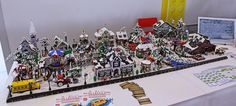 What the LEGO Winter Village sets look like together