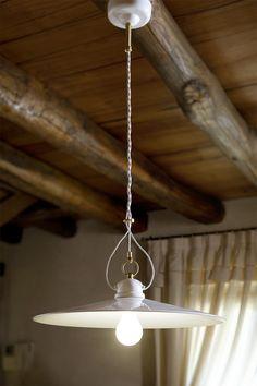 vraiment beau . aldo bernardi - suspension en porcelaine blanche unie