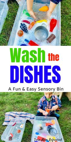 An easy toddler activity that's fun and will keep toddlers learning and busy! This preschool or toddler sensory bin is great for imaginary play sensory play fine motor skills and more. A go-to sensory bin for my twin toddlers. Toddler Sensory Bins, Preschool Learning Activities, Toddler Play, Infant Activities, Toddler Preschool, Kids Learning, Outdoor Toddler Activities, Sensory Tubs, Sensory Activities For Toddlers