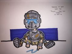 TITANFALL 2! This game is so fun! I'm really enjoying the storyline! Plan out those jumps pilot!  Sketch a day, day 76 'Pilot...are you there?' #sketch #sketchaday #copic #copicmarkers #draw #drawing #illustration #cartoon #comic #titanfall #titanfall2 #xbone #fanart #ink #pilot #ea