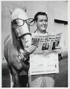 "60's The Famous talking horse - Mr. Ed TV show - Was kinda hooked on this show.Alan Young, who gamely played straight man to a talking horse for five years in classic sitcom ""Mr. Ed,"" died Thursday at the Motion Picture and Television Home in Woodland Hills, Calif. He was 96. Read more at http://www.philly.com/philly/entertainment/television/20160520_Reuters_tagreuterscom2016newsmlMT1VRT1201779957_Alan_Young___Mister_Ed__Star__Dies_at_96.html#FwPZVi1KKsZhBqmB.99"