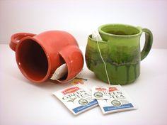 Tea Drinkers Sidekick Mug, Red Cup, Tea Bag Pouch