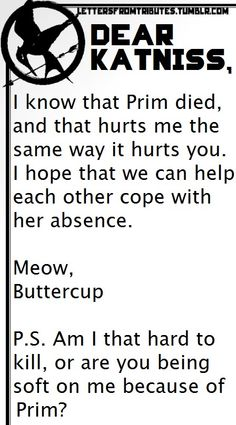 Buttercup and Katniss