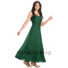 Forest Green Ena Empire Waist Satin Lace Renaissance Gothic Sun Dress - Green - Shop by Color - Dresses Special Dresses, Nice Dresses, Prom Dresses, Formal Dresses, Wedding Dresses, Long Lavender Dress, Lavender Blue, Simple Summer Dresses, Green Dress