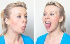 How to Lose Face Fat Fast in a Week: Are you looking to get rid of face fat, neck fat and double chin? Here are 9 Simple Exercises to Lose Face Fat Fast. Yoga Facial, Facial Yoga Exercises, Face Yoga, Face Facial, Reduce Face Fat, Lose Weight In Your Face, Lose Arm Fat, Lose Belly Fat, Before And After Weightloss Pics
