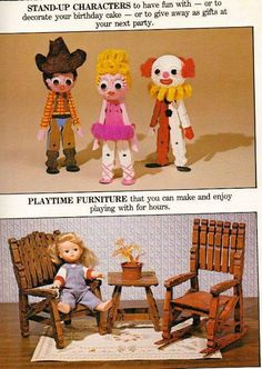 Vintage Clothespin Crafting Book Project (ETSY Item that has been sold) Wooden Clothespin Crafts, Wooden Clothespins, Clothespin Dolls, Clothespin Cross, Popsicle Stick Crafts, Craft Stick Crafts, Crafts For Kids, Popsicle Sticks, My Life Doll Clothes