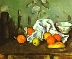 "(1882) Paul Cézanne ""Still Life with Fruit"" - State Hermitage Museum."