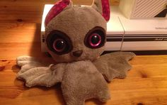 Bat Plush mit Glubschaugen / Bat Plush with sparkling eyes