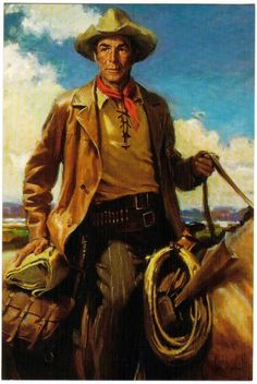 Randolph Scott painting - on display at Cowboy Hall of Fame in Oklahoma City, OK