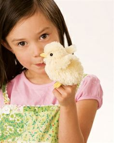 Chick Finger Puppet by Folkmanis Puppets at www.stuffedsafari.com