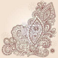 "Wall Mural ""henna, flower, doodle - henna mehndi paisley flower doodle vector design"" ✓ Easy Installation ✓ 365 Day Money Back Guarantee ✓ Browse other patterns from this collection!"