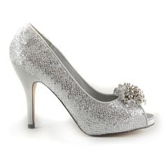 Stunning, sassy, silver sparkly shoes...what's not to love? Wedding?