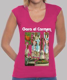 Camiseta mujer escote en V, El Carmen 2017 disponible en 9 colores por 20,90€