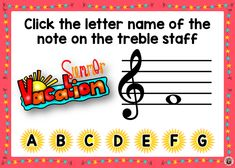 Reinforce student knowledge and recognition of the notes on the TREBLE STAFF with this fun deck. There are 26 cards in the deck. Each card gives the student one treble note to identify. This game uses both treble staff lines and spaces. ♫ ♫ #musiceducation #musicteacherresources #mtr #boomcardsformusic #boomcards Music Teacher Resources