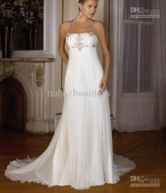 Wholesale Bridal Dress - Buy Elegant Plus Size Chiffon Spaghetti Strap Beads Bridal Dress Wedding Party Empire Bridesmaid Custom, $64.31   DHgate