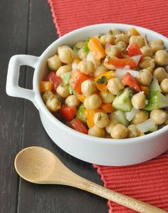 Peas and Crayons: [Restaurant Recreation] Marinated Chickpea Salad