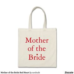 Mother of the Bride Red Heart Bridesmaid Tote Bags, Floral Tote Bags, Book Lovers Gifts, Bag Making, Shopping Bag, Reusable Tote Bags, Personalized Gifts, Floral Wreath, Budget