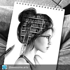 Never stop learning Via:@best.artz FOLLOW @best.artz for more... . By:@colour_me_creative . . Use #awesomearts to be featured! . . . . #bookart #booklover #artistic #drawingart #paintingoftheday #read #books #bookstagram #paintings #artshow #drawingtime #paintingart #sketching #mydrawing #myart #favorites #reading #artgallery #tagafriend #loveit #bookblogger #paintingoftheday #artistsofinstagram #instaartwork #instaarts #sketchbook #drawingaday #portraits #portraitphotography