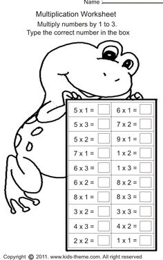 multiply numbers by 1 to 3