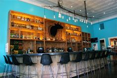 Our beautiful bar with over 200 #tequilas and 25 #mezcals Napa St Helena USA