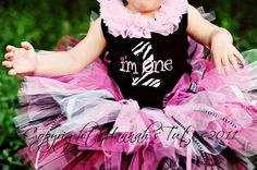 Julie...Isn't this outfit adorable!!Birthday HOT ZEBRA FRILLS Tutu Newborn Infant 1st by HannahsTutus, $28.00