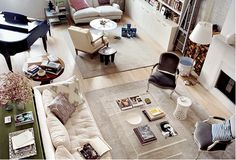 Good use of furniture to help create smaller spaces.