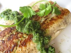 Wild Salmon never tasted so good until this recipe: Grilled Salmon with Cilantro Mint Chutney