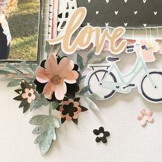 Floral Embellishment, by Kylie Kingham using the Ashton Court collection from www.cocoadaisy.com #cocoadaisy #kitclub #scrapbooking #layout #paper #flowers #embellishment #punch