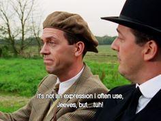 Bertie Wooster tells it like it is.