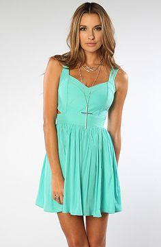 The Love Train Dress in Aquamarine by Keepsake