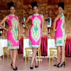 Ankara (popularly known as 'Kitenge') are vibrant African patterns of very rich colorful designs and were popular back in the days. Seems like these bold, festive African fabrics have m… African Dresses For Women, African Attire, African Wear, African Women, African Style, African Beauty, Ankara Short Gown Styles, Short Gowns, Ethnic Fashion