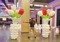 Love Balloon, Big Balloons, Balloon Wall, Birthday Balloons, Balloon Columns, Balloon Arch, Balloon Ideas, Ballon Flowers, Flower Balloons