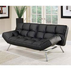 Abbyson Living Milano Black Convertible Euro Sofa Lounger | Overstock.com